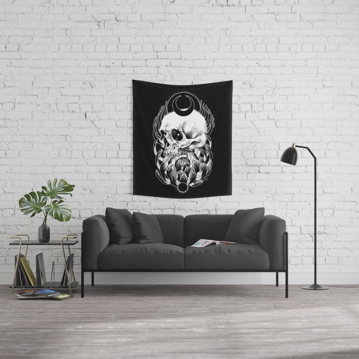 Crysanthemum Wall Tapestry