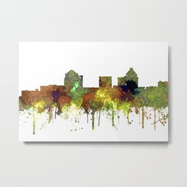 Greensboro NC Skyline SG - Safari Buff Metal Print