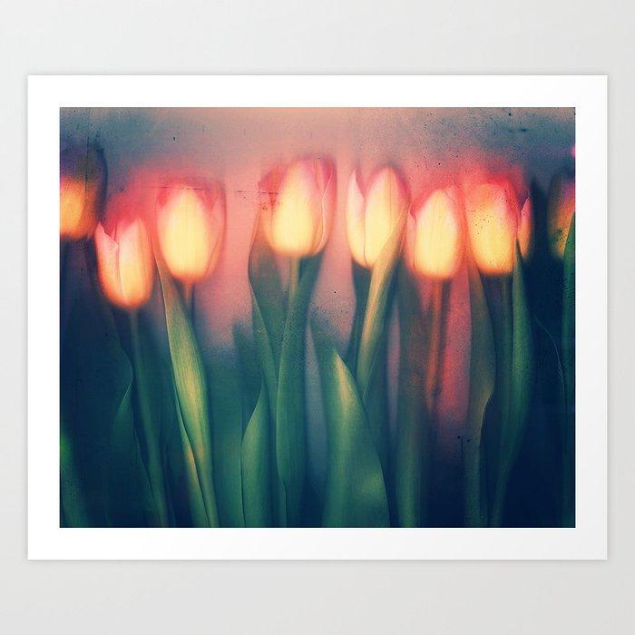 Tulips Yellow Art Print