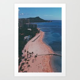 In The Sky Over Hawaii Art Print