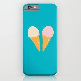 Ice Cream Cone Turquoise iPhone Case