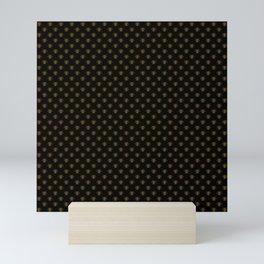 Small Bright Gold Metallic Foil Bees on Black Mini Art Print