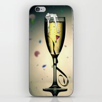 champagne iPhone & iPod Skins featuring Champagne by CokecinL