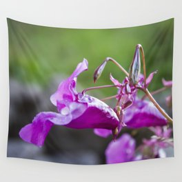 Indian Balsam Bokeh on the banks of the River Tay in Scotland Wall Tapestry