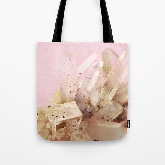 Quartz Crystals on Blush Tote Bag