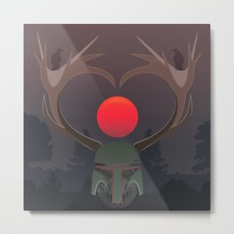 The last elk hunter Metal Print