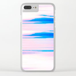 Sea view white Clear iPhone Case