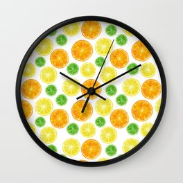 Citrus medley! Oranges, lemons, and limes.  Wall Clock