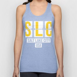SLC - Salt Lake City Airport - Utah Airport Code Souvenir or Gift Design  Unisex Tank Top