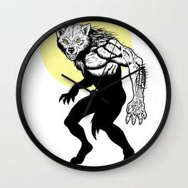 Loup-garou Homme Wall Clock
