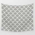 Grey Fish Scales Pattern by jsdavies