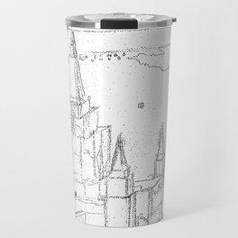 Oakland California LDS Temple Sketch Travel Mug