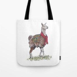 Llama the Yarnbringer Tote Bag