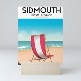 Sidmouth, devon, vintage travel poster Mini Art Print