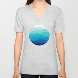 Blue Mist Mountains Unisex V-Neck