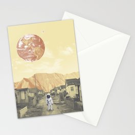 Astronaut Neighborhood Stationery Cards