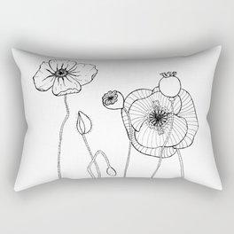 POPPY FLOWERS Rectangular Pillow