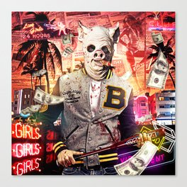 Night Out: Hotline Miami Canvas Print