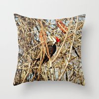 woody Throw Pillows featuring Woody by DeLayne