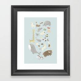 Animalphabet Framed Art Print