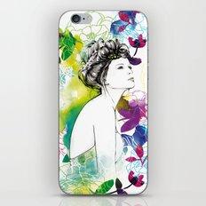 Bella fashion watercolor portrait iPhone & iPod Skin