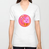 icecream V-neck T-shirts featuring Mr  Icecream by Helenasia