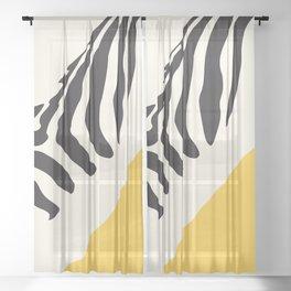 Zebra Abstract Sheer Curtain