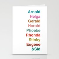 arnold Stationery Cards featuring HEY ARNOLD! by Glassy
