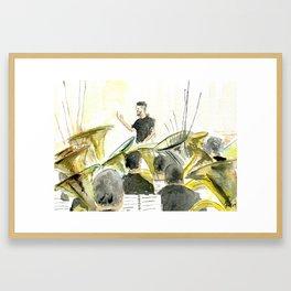 Tuba concert Framed Art Print