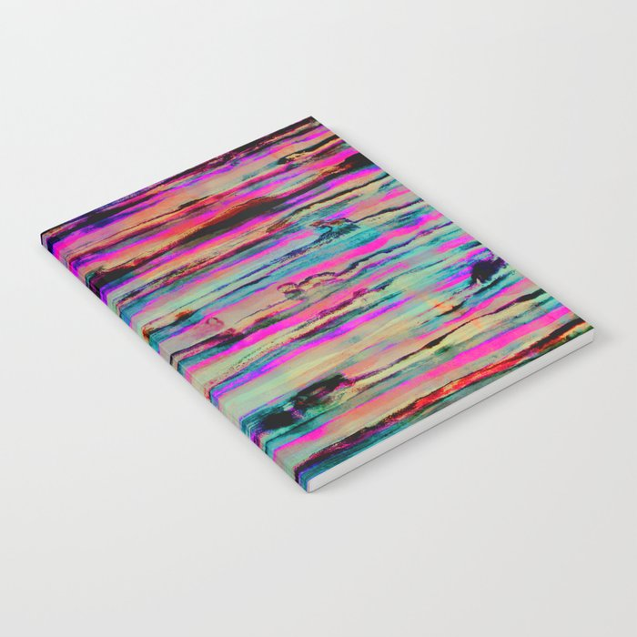 Neon Stripes Notebook