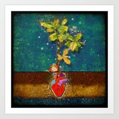 even though i buried my heart, my love has blossomed Art Print