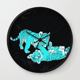 Oriental mini tigers Wall Clock