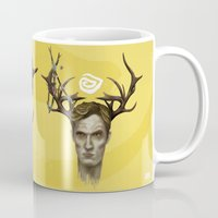 true detective Mugs featuring Notice King  True Detective by Alejo Malia