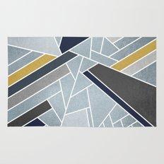 Soft Silver/Blue/Navy/Gold Rug
