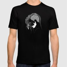 women skull  Black Mens Fitted Tee MEDIUM