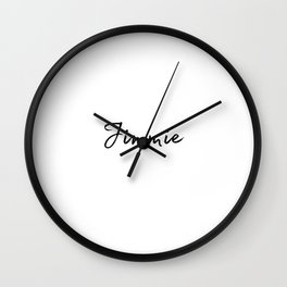 Jimmie Calligraphy Wall Clock