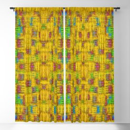 Rainbow stars in the golden sky scape Blackout Curtain