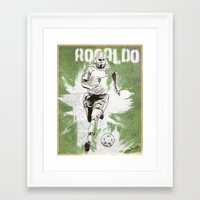 ronaldo Framed Art Prints featuring Ronaldo by Renato Cunha