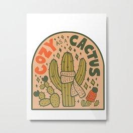 Cozy as a Cactus Metal Print