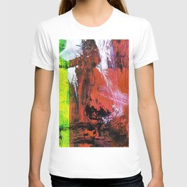 Getting Warmer // abstract painting T-shirt