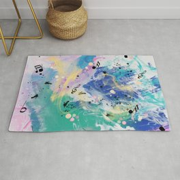 Musical Fantasy, Colorful Abstract  Rug