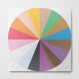 Rainbow Wheel of Inclusivity Metal Print