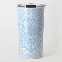 Blue Mandala Design Extra Detailed Geometric Ethnic Tribal Pattern Travel Mug