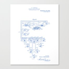 Automatic Bowling Machine Vintage Patent Hand Drawing Canvas Print