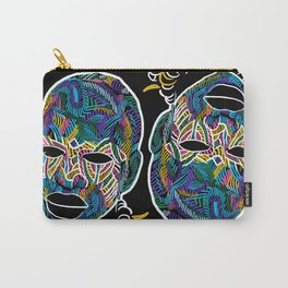 Voodoo Portrait with ethnic ornaments Carry-All Pouch