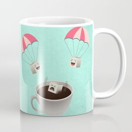 Sugar Cubes Jumping in a Cup of Coffee Coffee Mug
