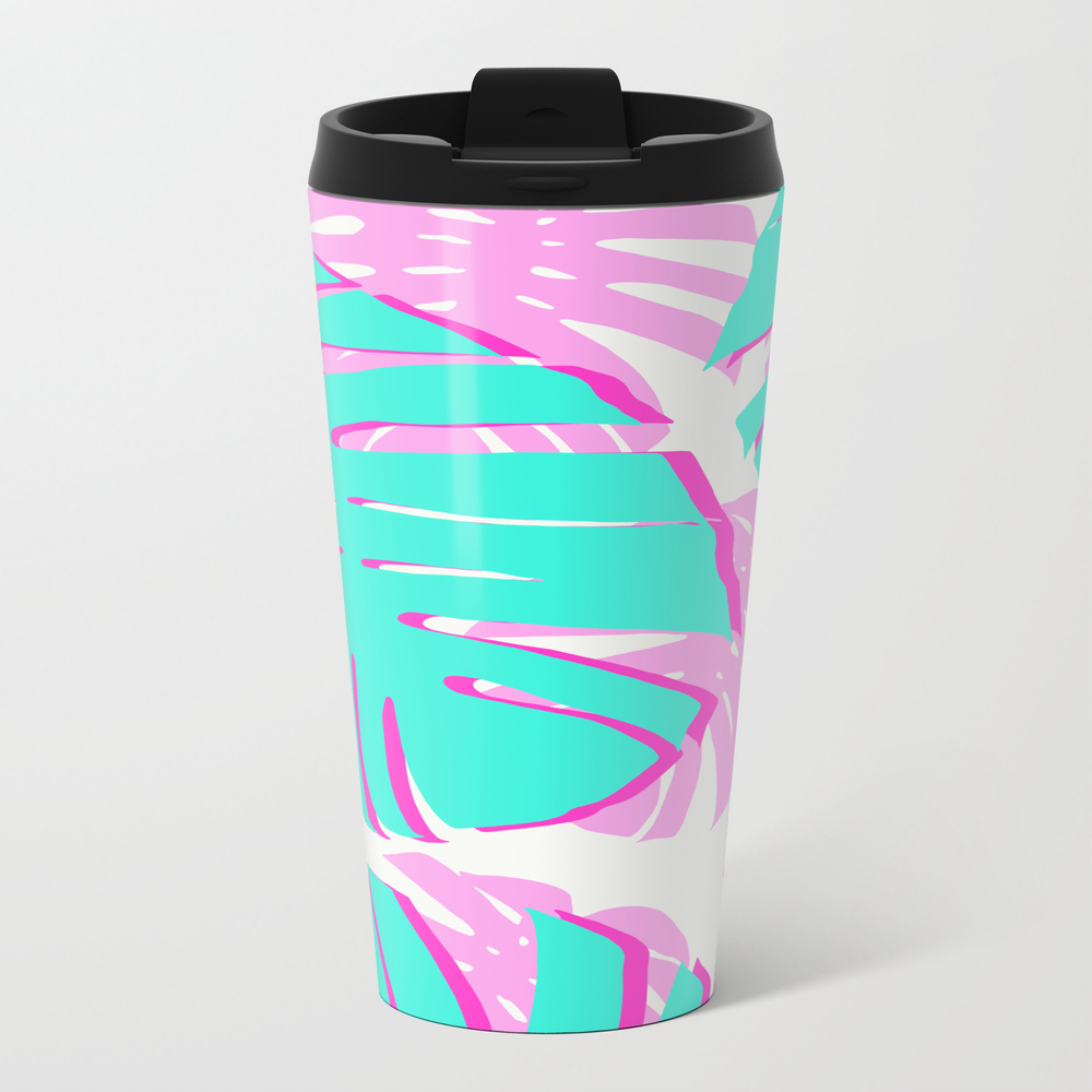 Vibrant Tropical Leaves Travel Mug TRM8956716