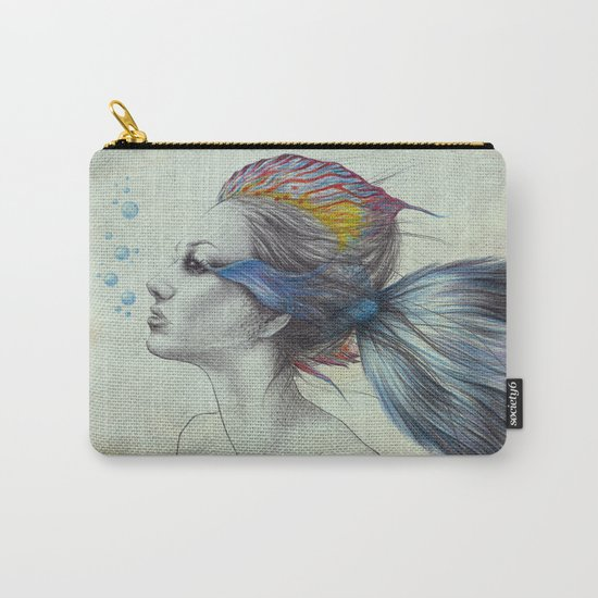 When I was a fish | textured Carry-All Pouch