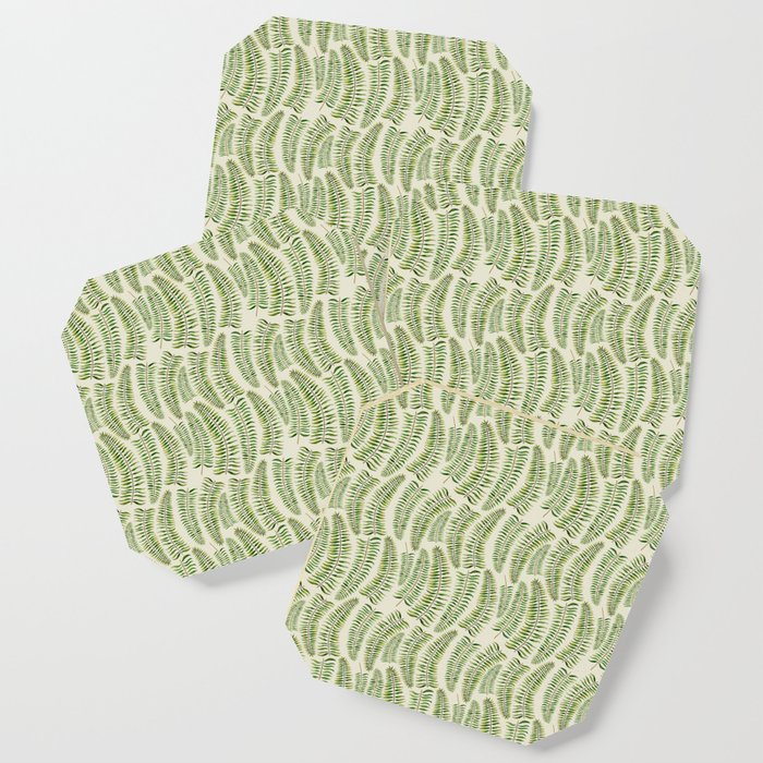 Palm leaves in tiger print Coaster
