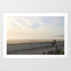 Ocean Beach Days Art Print